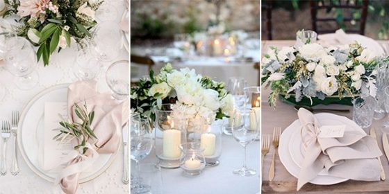 elegant wedding table settings