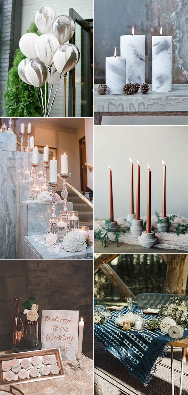 marble inspired wedding decoration ideas for 2018