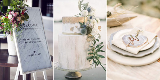 marble wedding ideas