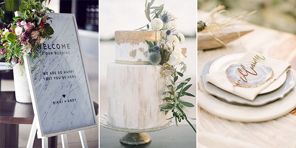 marble wedding ideas