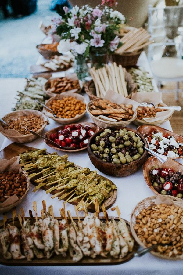 outdoor wedding food station ideas