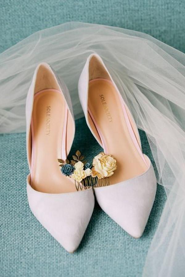 simple but elegant flats wedding shoes