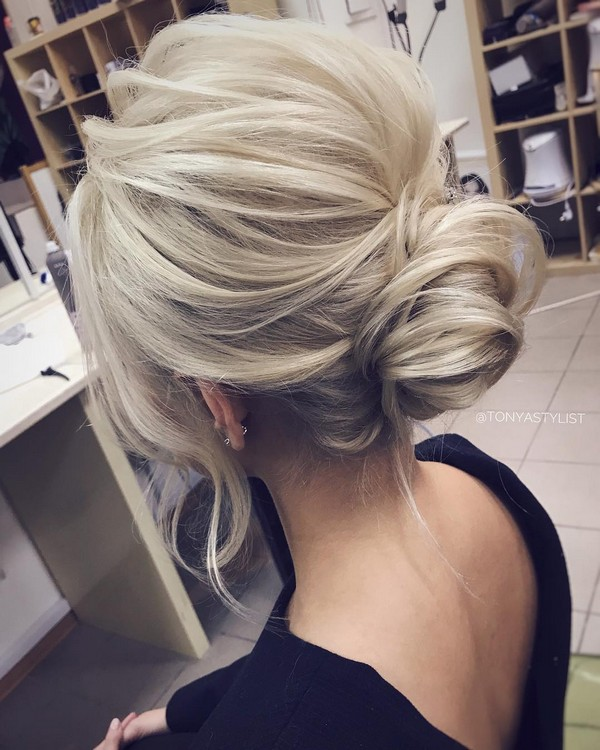 simple but elegant updo wedding hairstyle