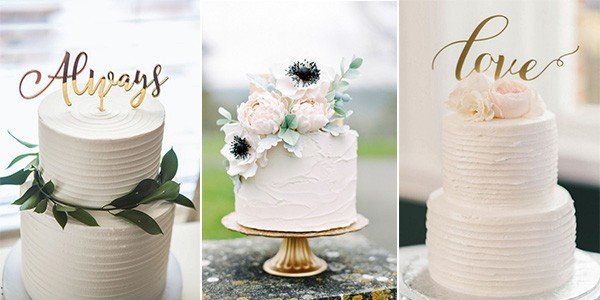 simple but elegant wedding cakes