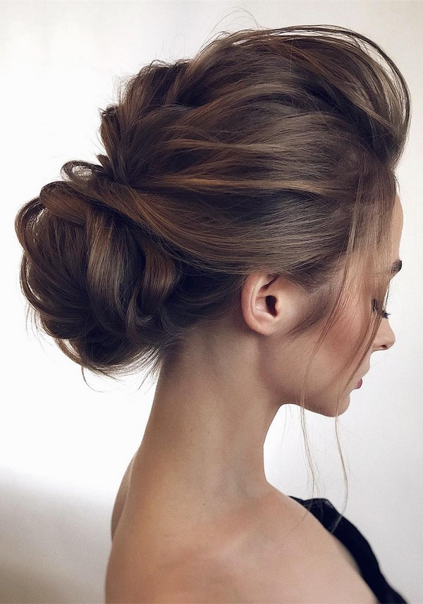soft and feminine updo wedding hairstyles