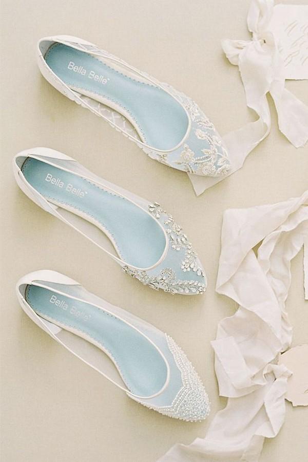 something blue flat wedding shoes for 2018
