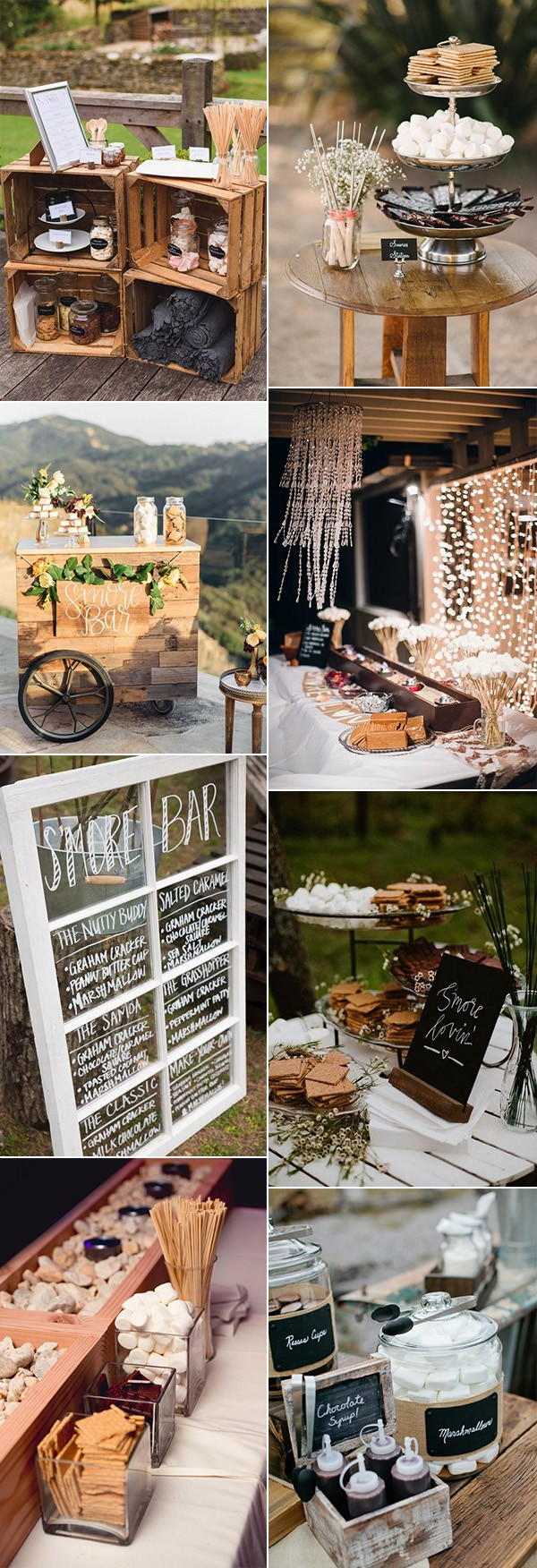 trending S'mores Bar wedding food ideas for 2018