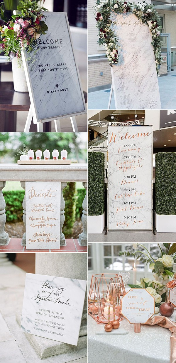 trending marble wedding sign ideas for 2018