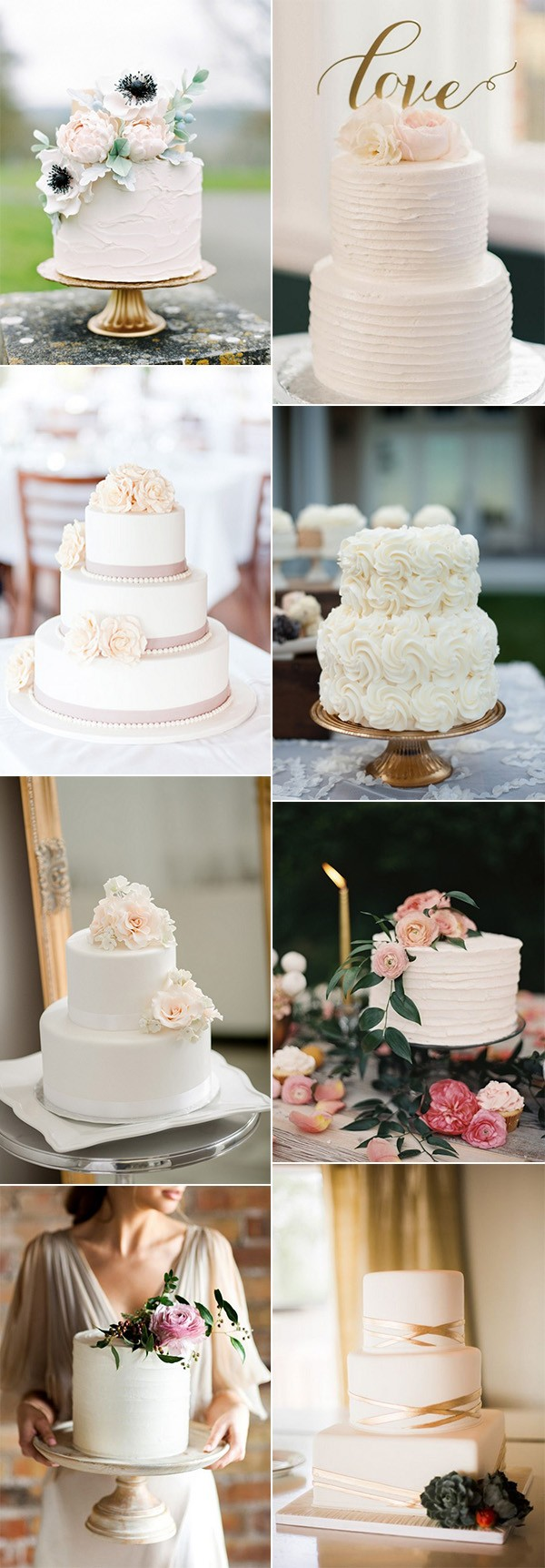 trending simple but elegant wedding cakes