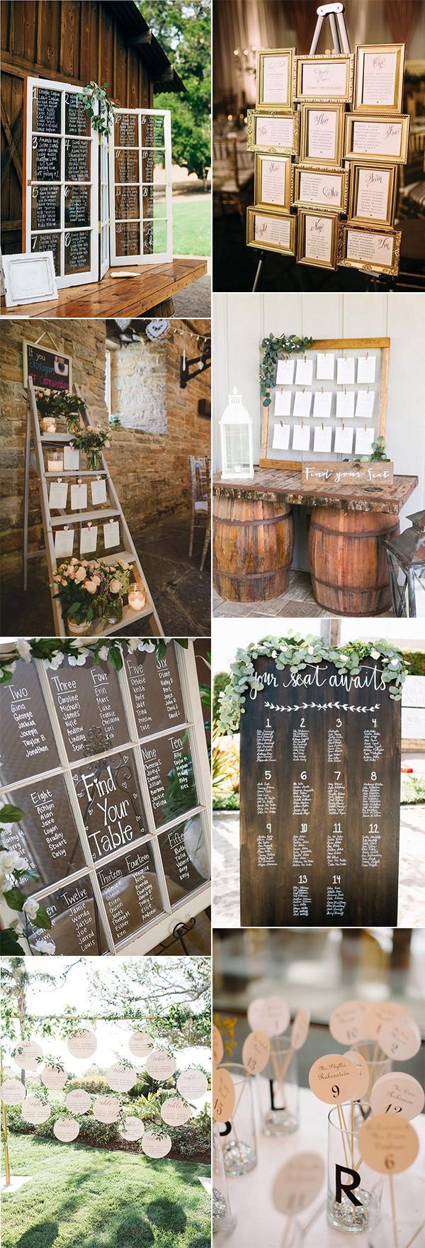 trending vintage wedding seating chart display ideas