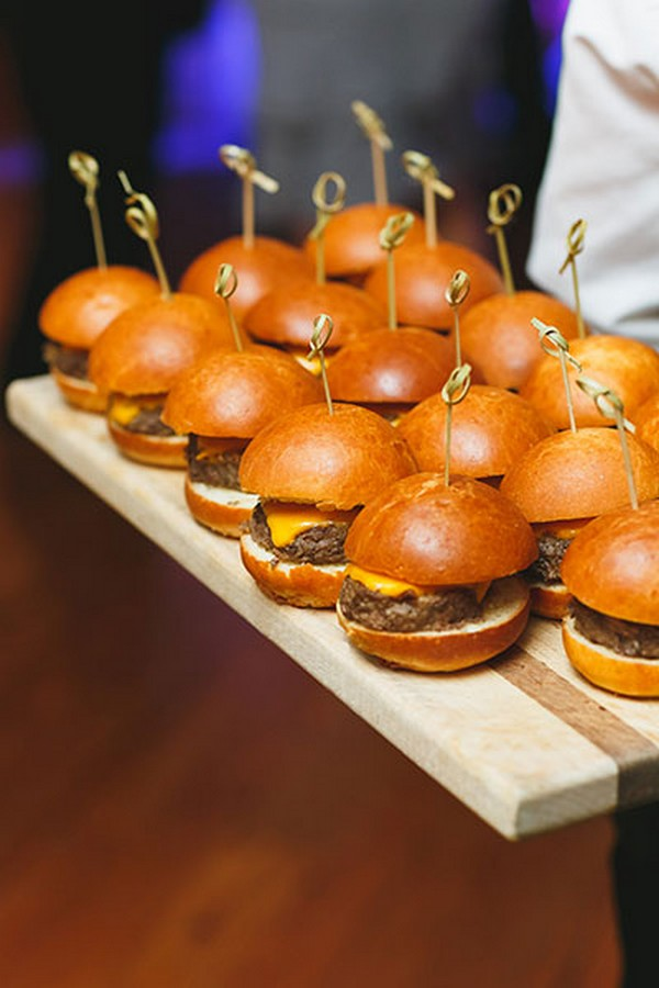 trending wedding food ideas hamburgers