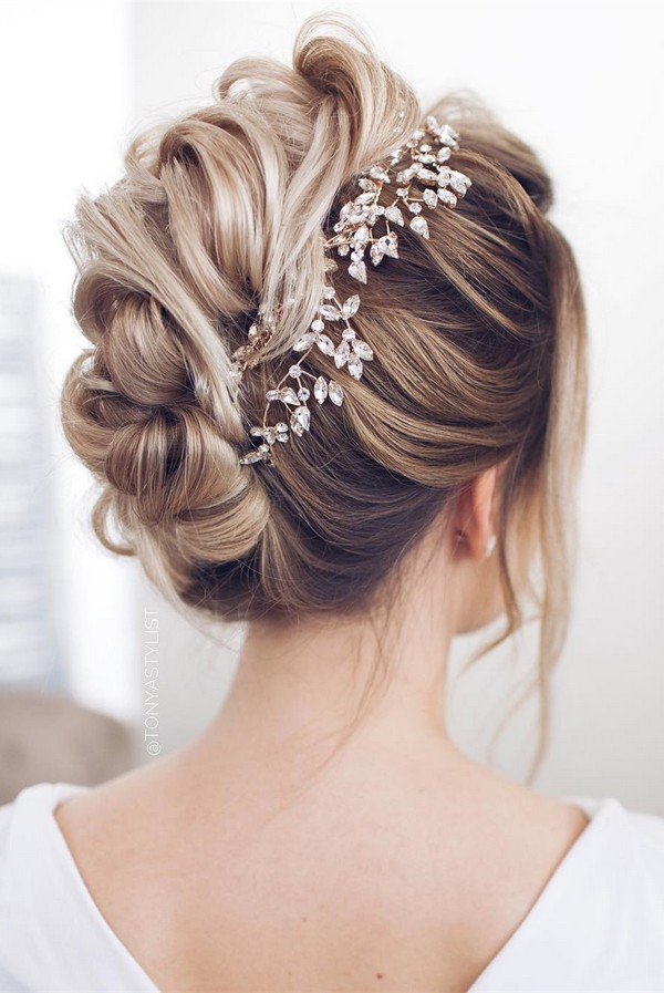 12 so pretty updo wedding hairstyles from tonyapushkareva twisted updo wedding hairstyle for long hair junglespirit Images