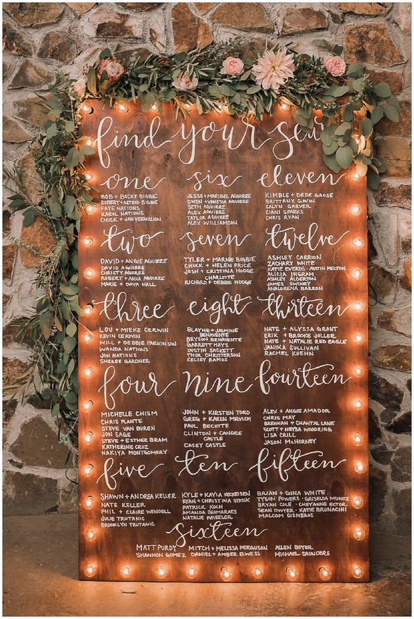 Unique Wedding Seating Plan Display Ideas