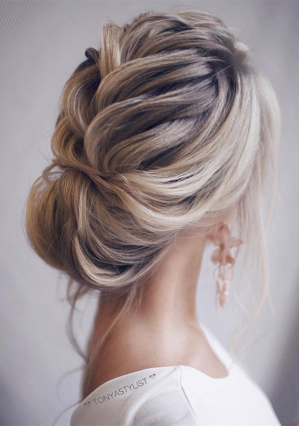 12 So Pretty Updo Wedding Hairstyles from TonyaPushkareva - EmmaLovesWeddings