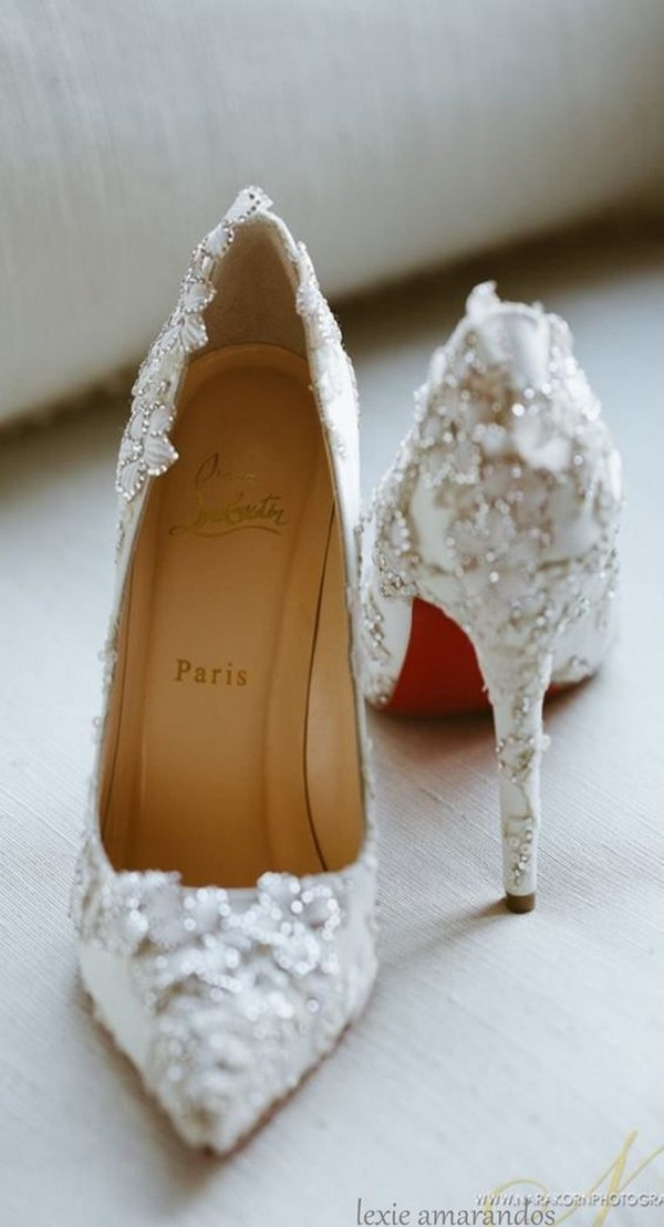 vintage beaded wedding heels