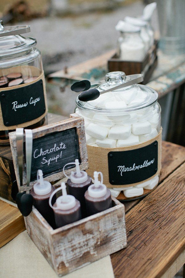 wedding S'mores Bar food ideas