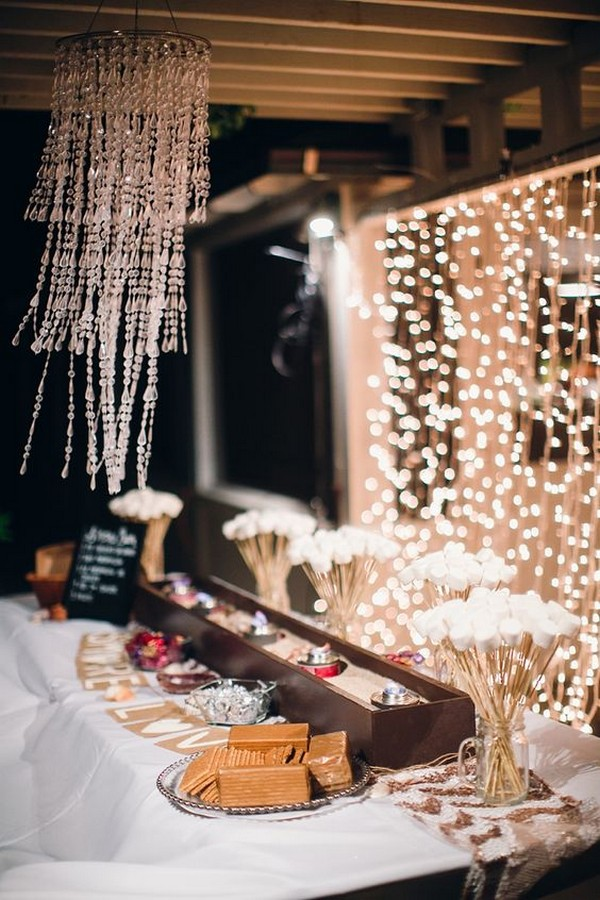 wedding S'mores Bar food station ideas