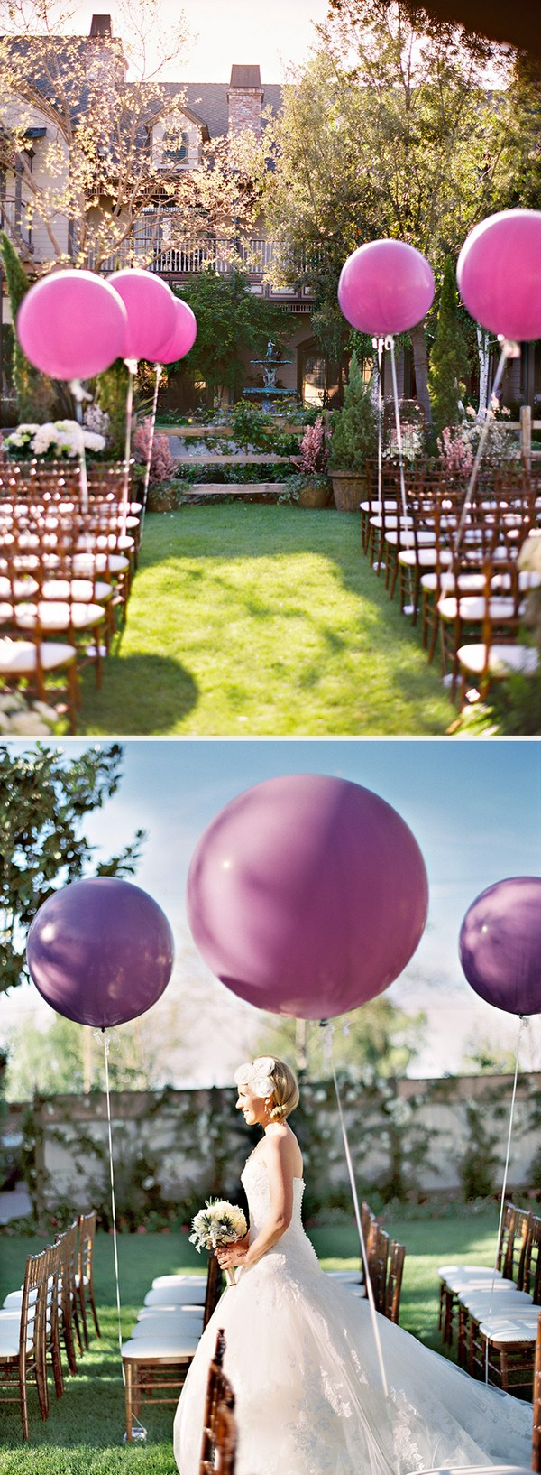 wedding aisle decoration ideas with balloons