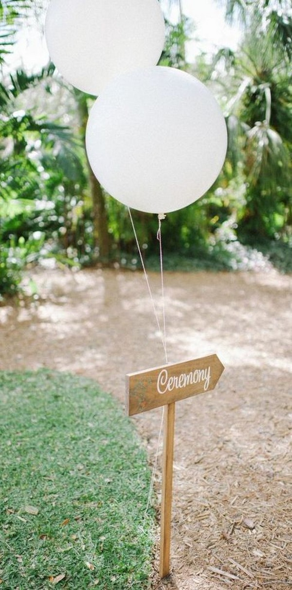 wedding ceremony sign ideas with balloons