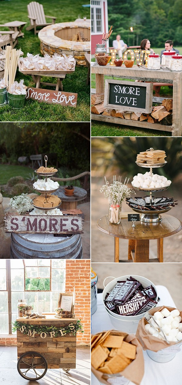 wedding food ideas with S'mores Bar