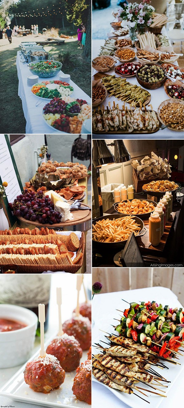 wedding food station ideas for 2018