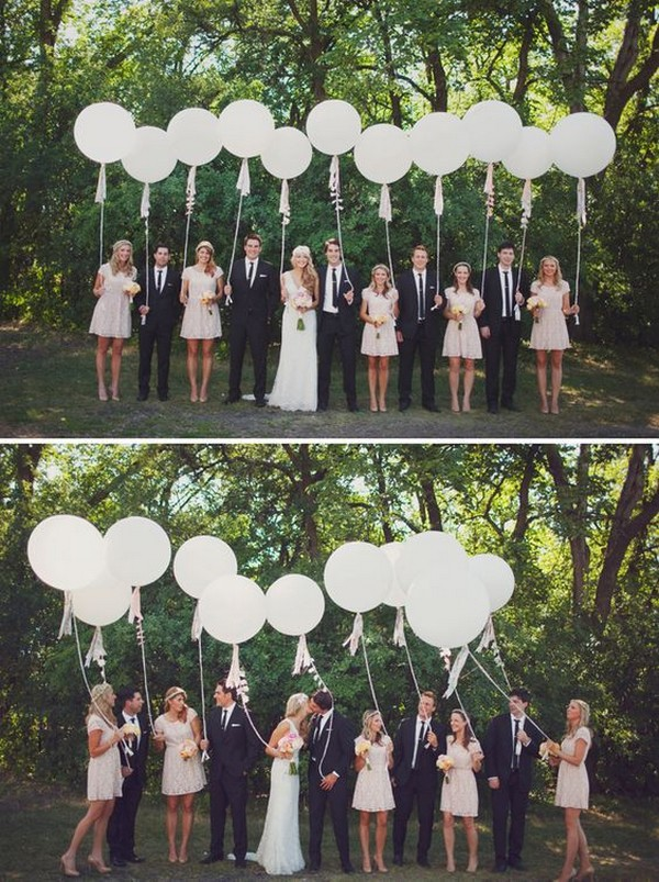 wedding photo ideas with balloons