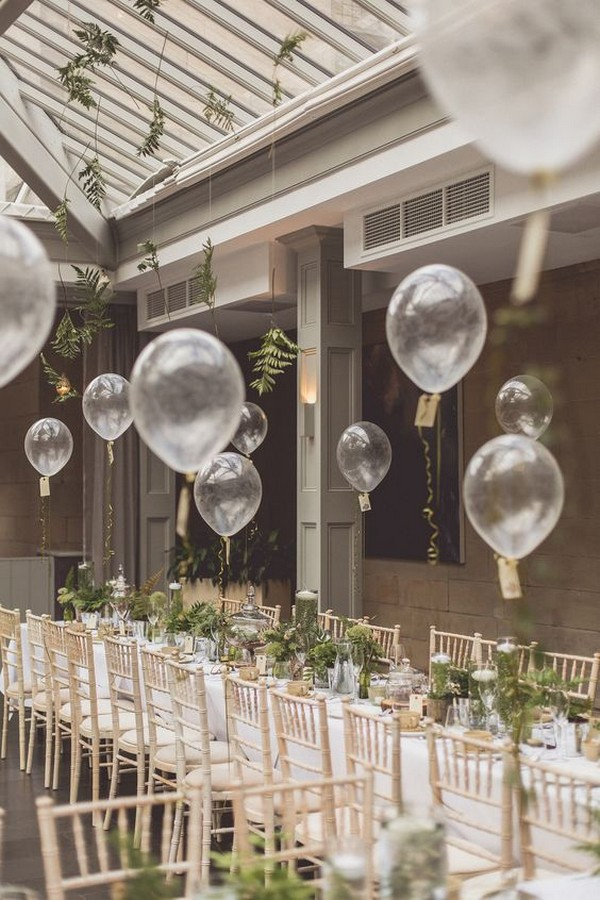 wedding reception decoration ideas with balloons