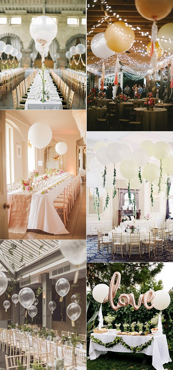 wedding reception decorations with balloons