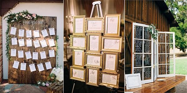wedding seating chart display ideas