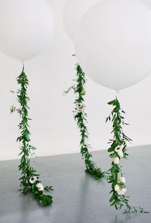 white balloon wedding decoration ideas