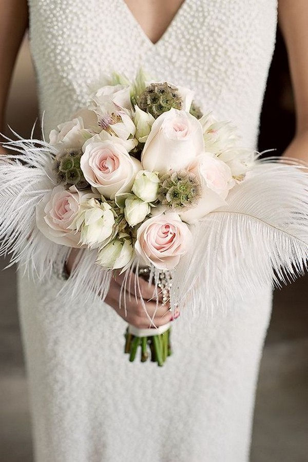 12 unique wedding bouquet ideas with feathers page 2 of 2