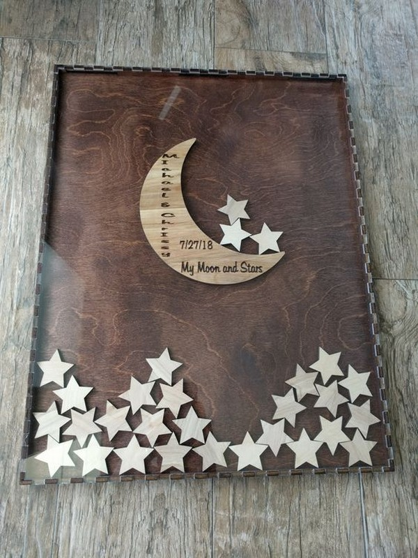 Moon and Stars wedding guest book