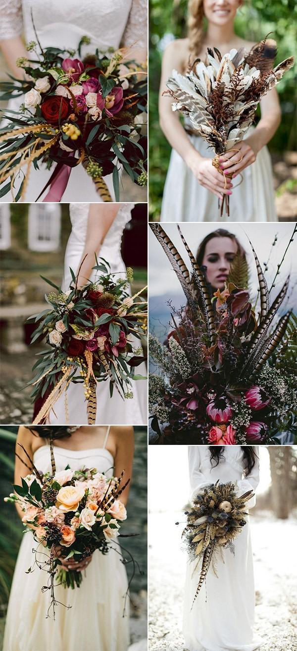 12 Unique Wedding Bouquet Ideas With Feathers Emmalovesweddings