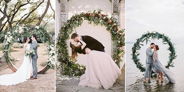 circular wedding arches