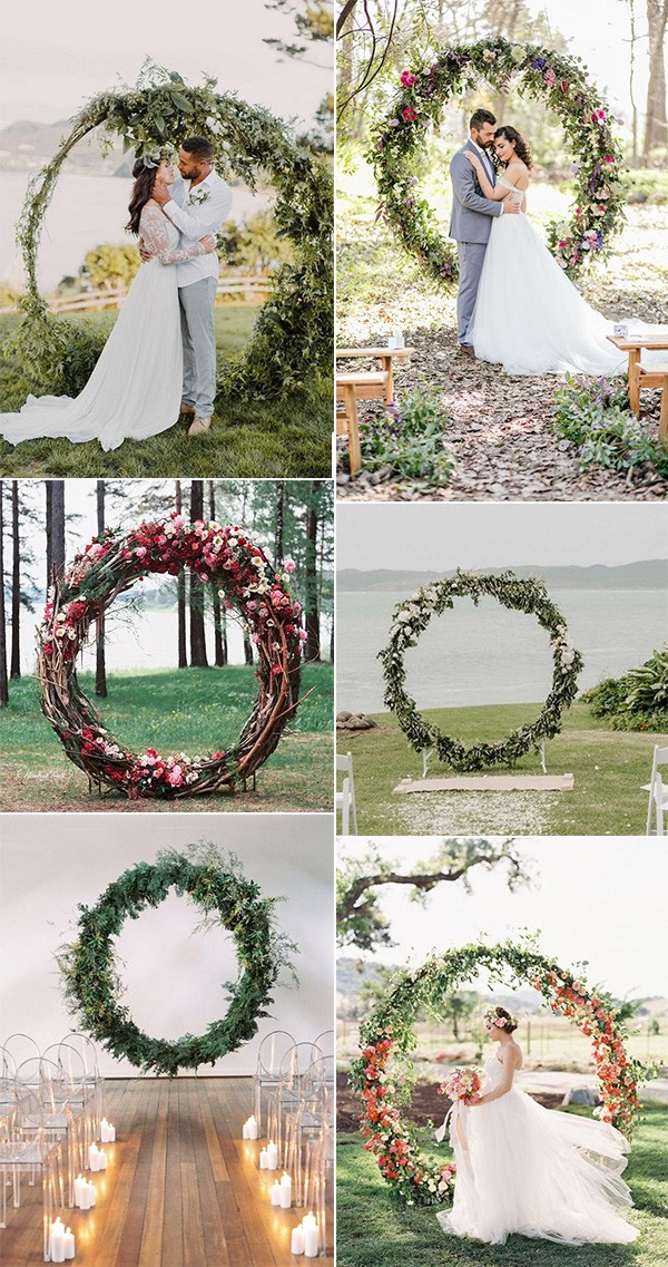 Top 20 Pretty Circular Wedding Arches For 2018 Trends