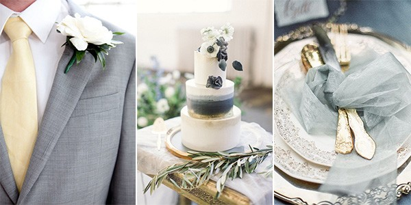 Elegant Gold And Grey Wedding Color Inspiration Emmalovesweddings
