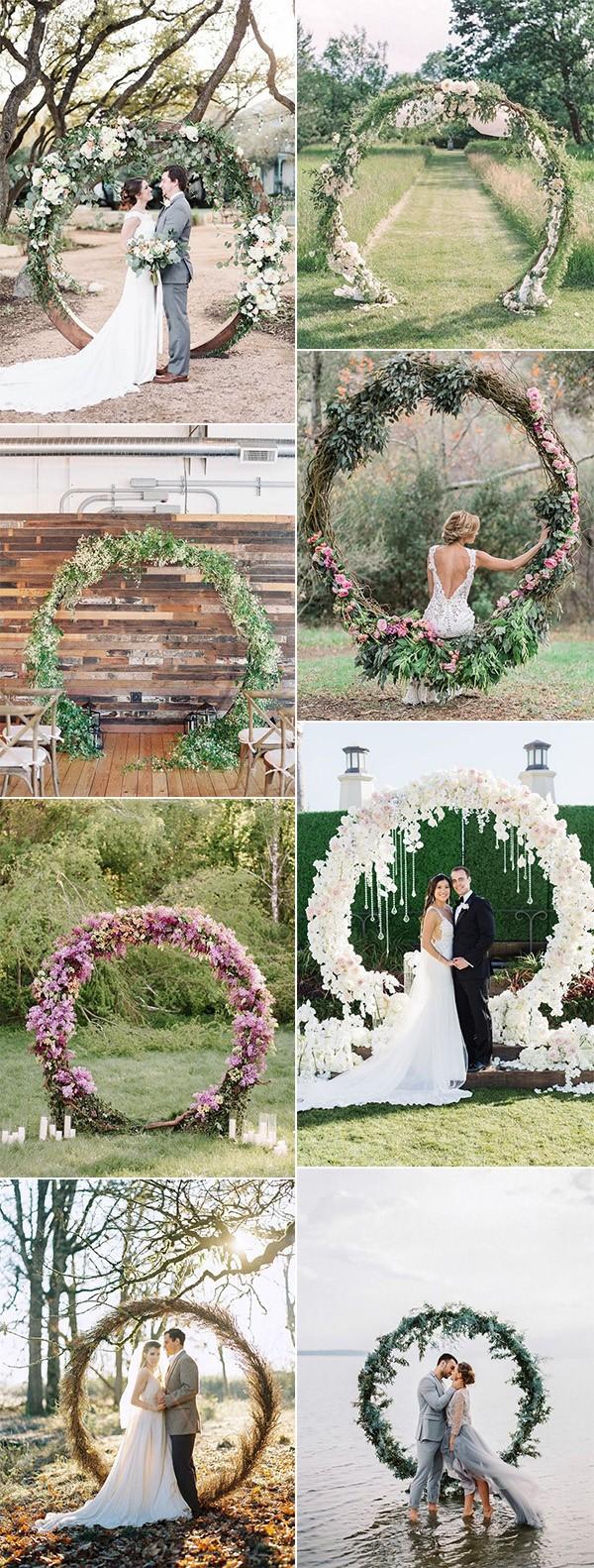 pretty circular wedding arches for 2018 trends