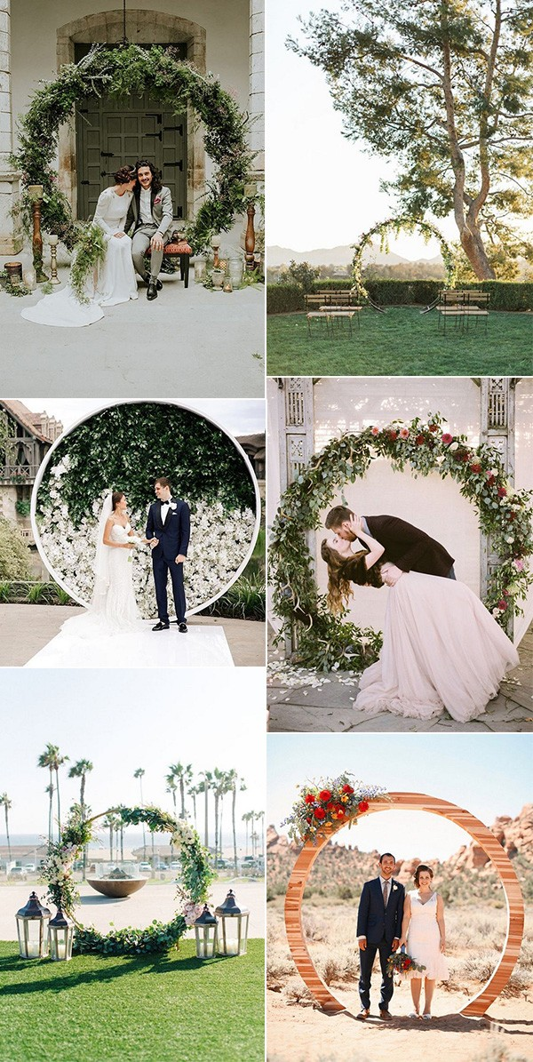trending circular wedding arch ideas