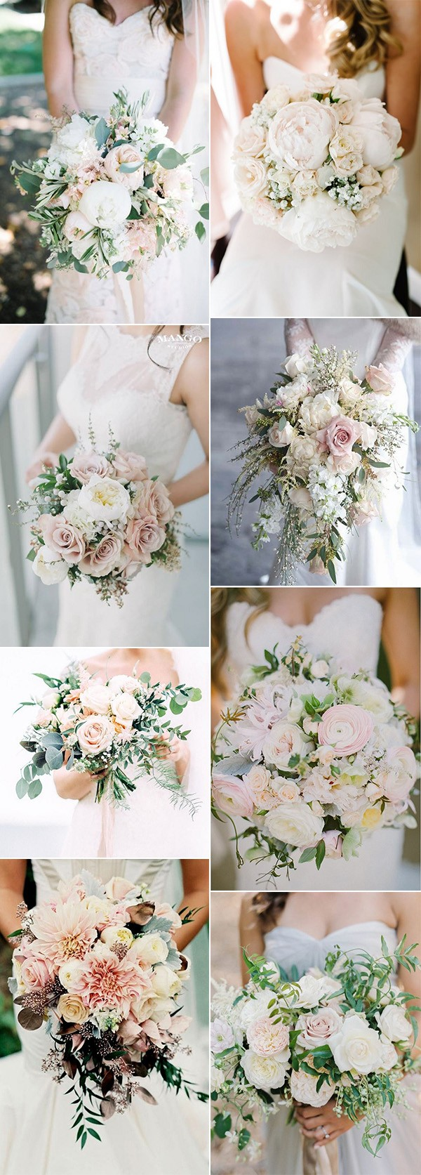2018 trending blush pink wedding bouquet ideas