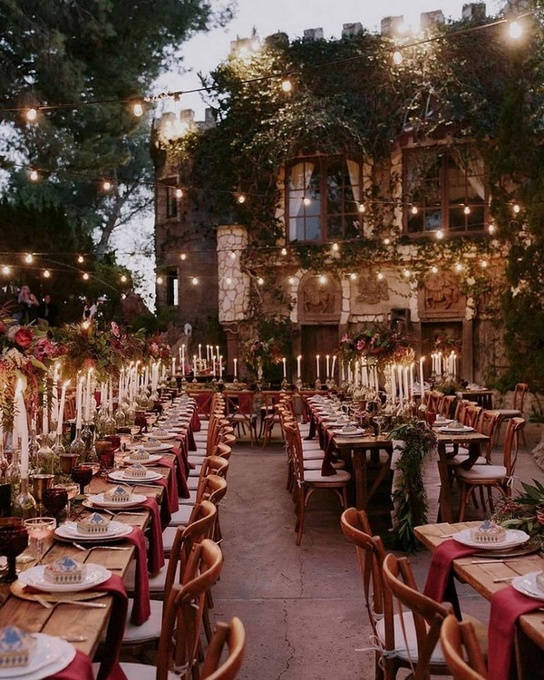 Harry Potter inspired vintage wedding reception ideas
