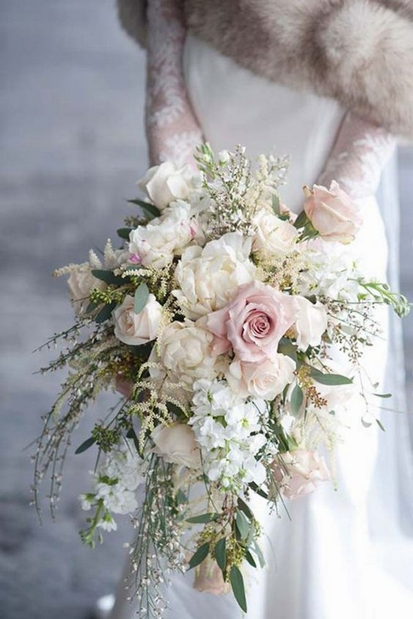 Blush pink and white wedding bouquet emmalovesweddings blush pink and white wedding bouquet mightylinksfo