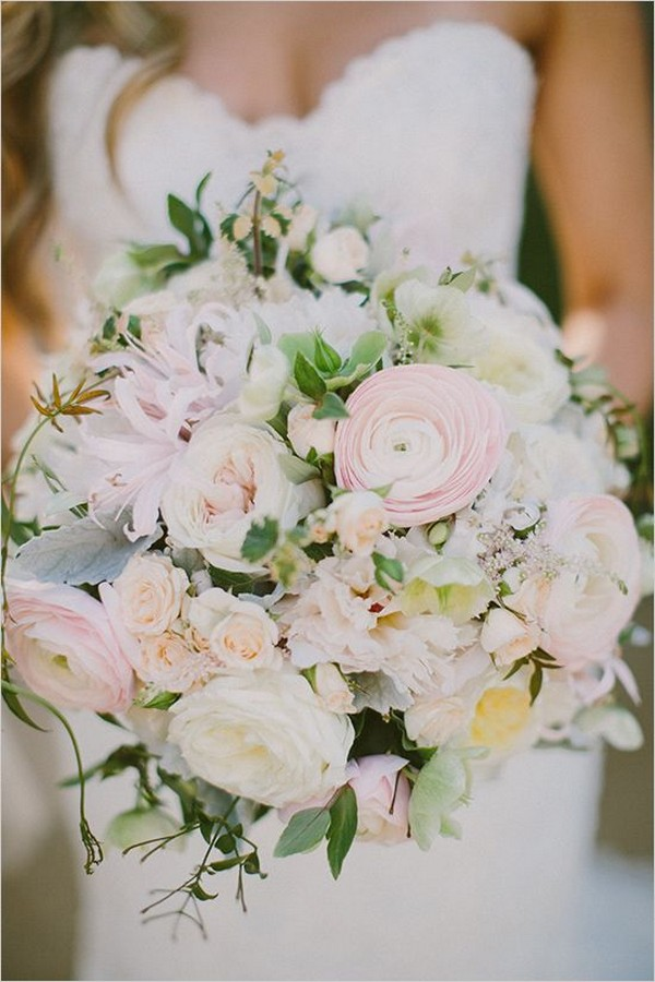 blush pink wedding bouquet ideas for 2018