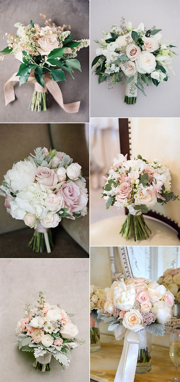 blush pink wedding bouquets for 2018 trends