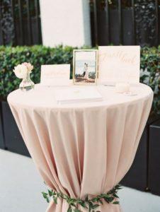 Blush Wedding Guest Book Table Decoration Ideas