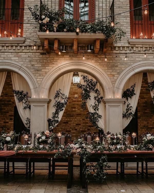 chic vintage wedding reception decoration ideas