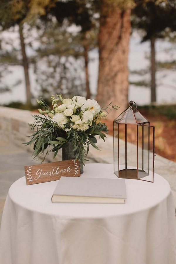 Chic Wedding Guest Book Sign In Table Decorations