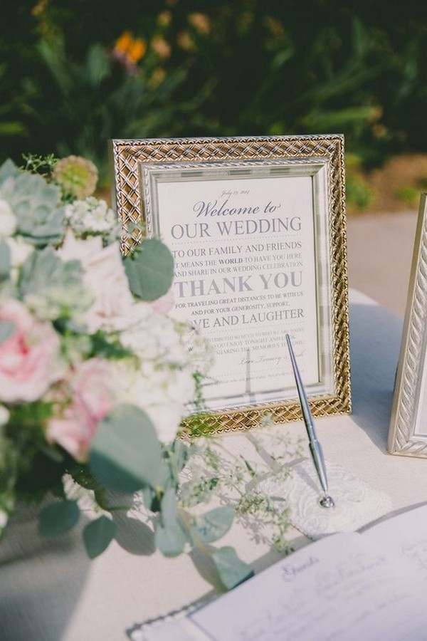Chic Wedding Guest Book Table Ideas