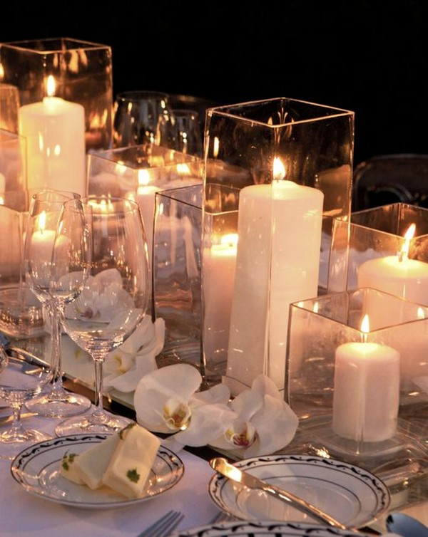 20 Elegant Wedding Centerpieces with Candles for 2018 Trends ...