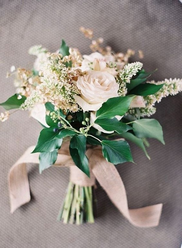 gorgeous blush pink and green wedding bouquet for 2018