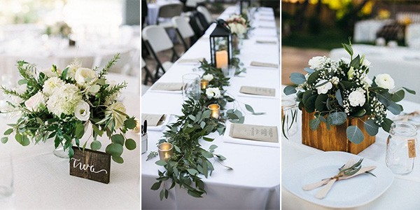 greenery wedding centerpieces